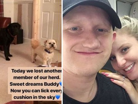 Coronation Street star Sam Aston and new wife Briony left devastated over sad death of beloved dog