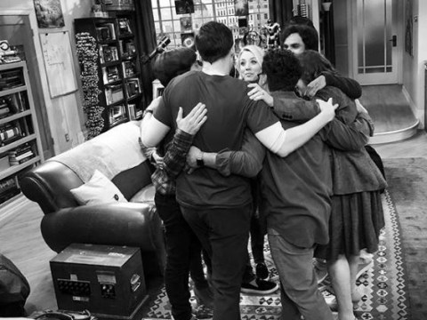 The Big Bang Theory's Kaley Cuoco releases first look at cast's final scene together and prepare to weep