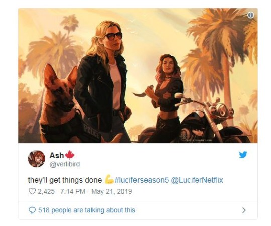 Lucifer Season 5 On Netflix: Lauren German Dog Pepper For