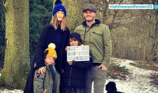 Matthew Wolfenden and Charley Webb's family