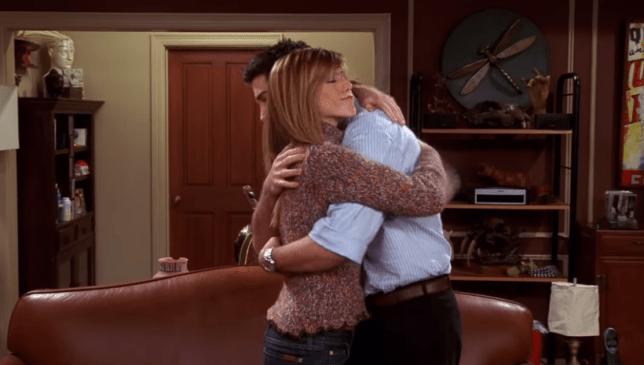 Friends Ross and Rachel in season 10 episode 15