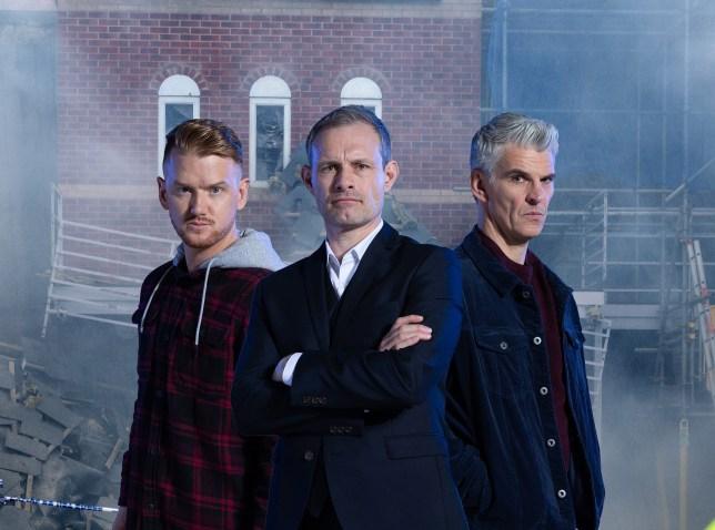 Gary, Nick and Robert in Coronation Street