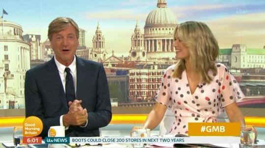 Richard Madeley and Charlotte Hawkins on Good Morning Britain