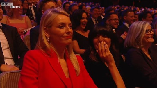 Tess Daly and Claudia Winkleman in the audience at the 2019 TV Baftas