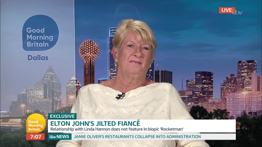 Linda Hannon, Elton John's ex-fiance, on Good Morning Britain
