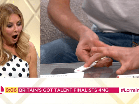 Carol Vorderman left screaming as Britain's Got Talent magicians 4MG perform trick live on air
