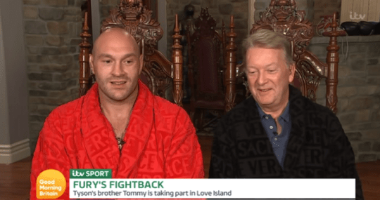 Tyson Fury and his manager on Good Morning Britain