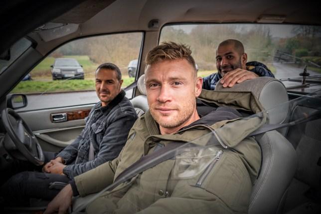 Paddy McGuinness, Freddie Flintoff and Chris Harris on Top Gear