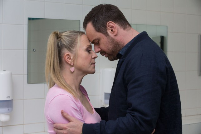 Mick (Danny Dyer) and Linda (Kellie Bright) face troubles in EastEnders