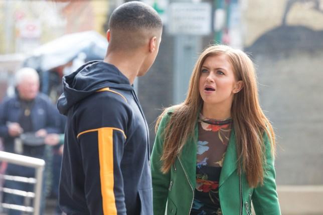 Tiffany is shocked in EastEnders