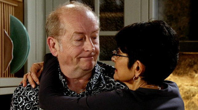 Yasmeen and Geoff in Coronation Street
