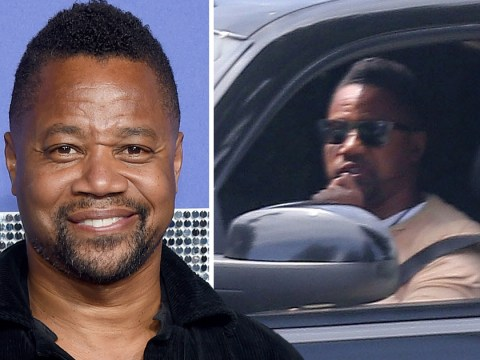 Cuba Gooding Jr. is pictured in LA as he prepares to turn himself in to police over groping allegations