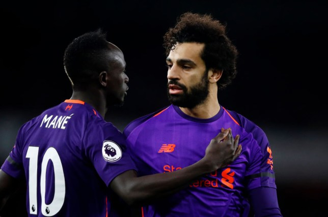 Sadio Mane of Liverpool and Mohamed Salah shared last season's Premier League Golden Boot with Arsenal's Pierre-Emerick Aubameyang