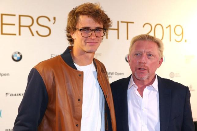 Alexander Zverev stands alongside Boris Becker