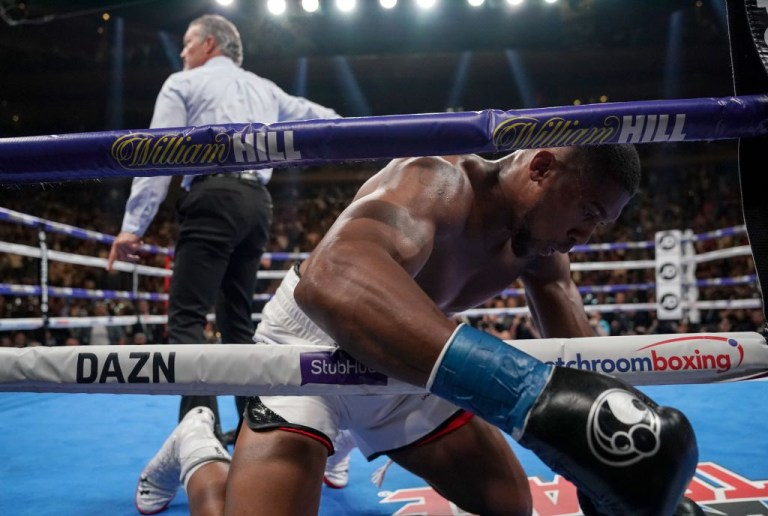 Anthony Joshua suffered a shock defeat to Andy Ruiz Jr