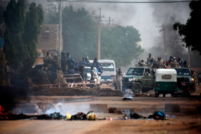 Sudanese forces are deployed around Khartoum's army headquarters