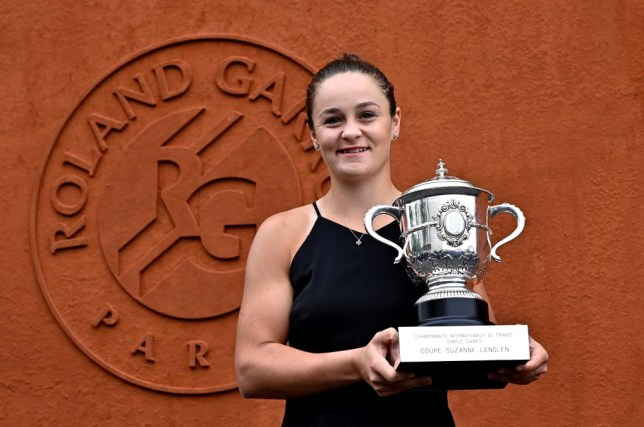 Ash Barty with her French Open trophy