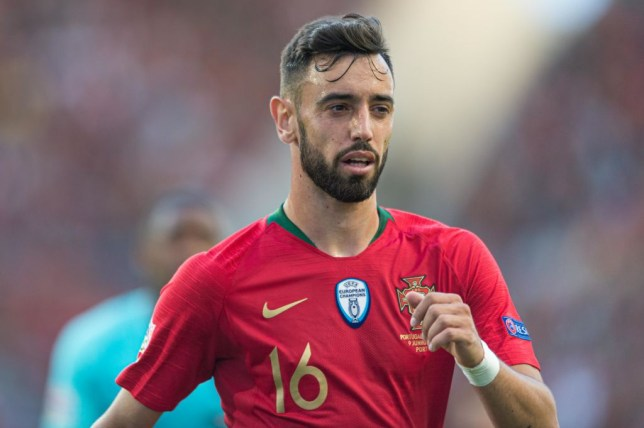 Manchester United, Liverpool and Tottenham Hotspur target Bruno Fernandes looks on