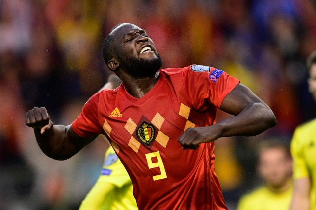 Belgium's Romelu Lukaku celebrates after scoring during a soccer game between Belgian national team the Red Devils and Scotland, Tuesday 11 June 2019 in Brussels, an UEFA Euro 2020 qualification game. BELGA PHOTO YORICK JANSENS (Photo credit should read YORICK JANSENS/AFP/Getty Images)