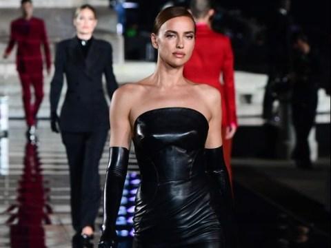 Irina Shayk makes a fierce return to the runway in Florence after Bradley Cooper split