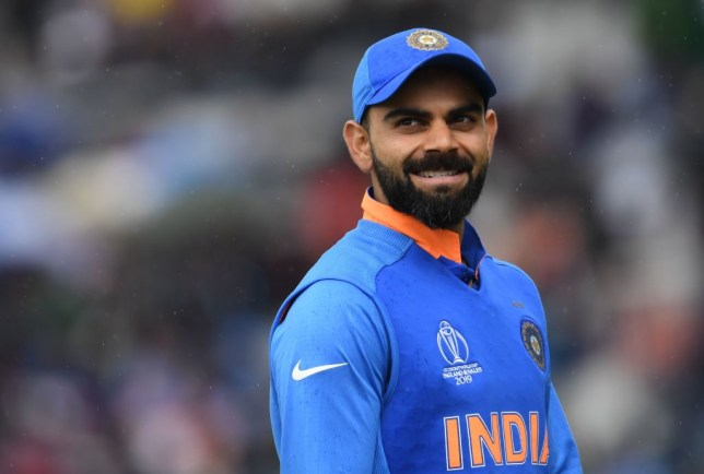 Virat Kohli was dismissed in bizarre circumstances during India's World Cup fixture with Pakistan