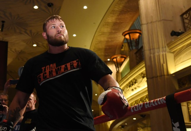 LAS VEGAS, NEVADA - JUNE 11: Boxer Tom Schwarz works out at MGM Grand Hotel & Casino on June 11, 2019 in Las Vegas, Nevada. Schwarz will face Tyson Fury in a heavyweight bout on June 15 at MGM Grand Garden Arena in Las Vegas. on June 11, 2019 in Las Vegas, Nevada. (Photo by Ethan Miller/Getty Images)
