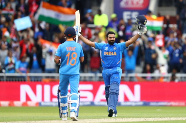 Rohit Sharma scored his second century of the World Cup against Pakistan