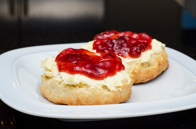 What goes on a scone first – jam or cream?
