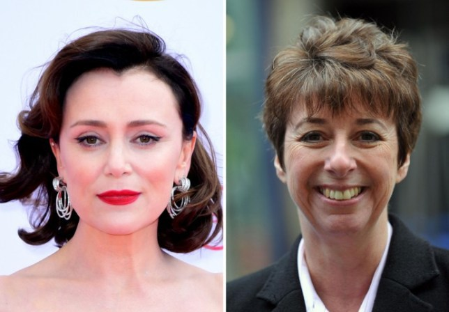 Keeley Hawes and Detective Chief Inspector Caroline Goode