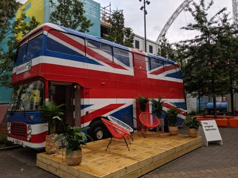 We stayed on the actual Spice Girls bus for a 90s sleepover at Wembley
