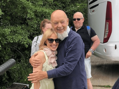 Kylie Minogue's Glastonbury dream comes true as she hugs founder ahead of headline performance
