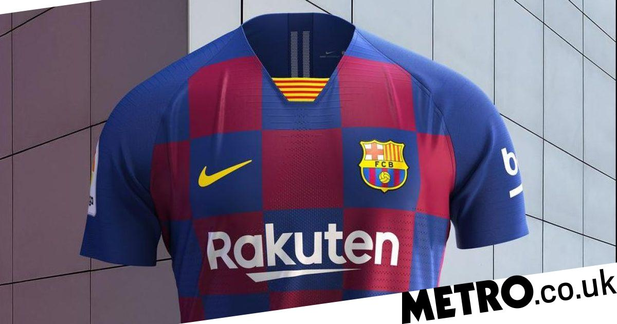 low priced 04aae 2dad3 Nike reveal new Barcelona 'checkboard' kit for 2019-2020 ...