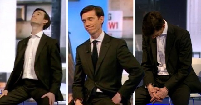 Rory Stewart going through the emotions last night