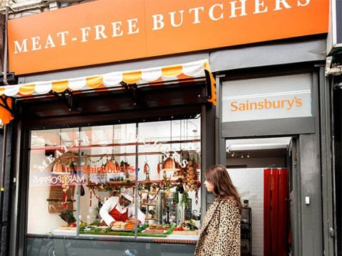 UK's first meat-free butchers opens up the road from struggling butcher