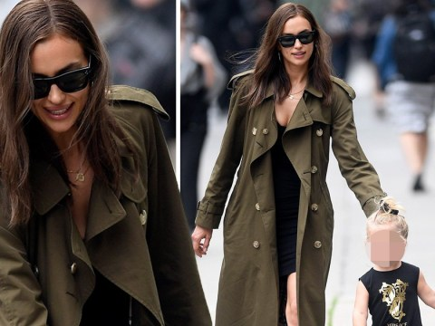 Irina Shayk well prepared for all weathers as she embraces mummy duties after Bradley Cooper split
