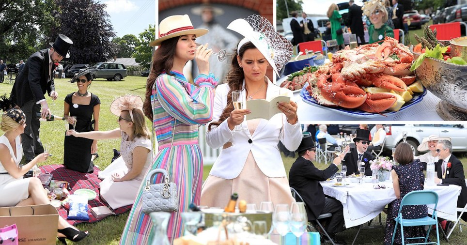 Lobsters galore as Royal Ascot goers have poshest picnics known to man