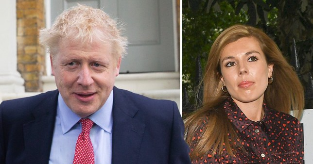 Boris Johnson and his girlfriend Carrie Symonds