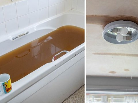 Pregnant mum horrified to find sewage fill her bathroom and seep through ceiling