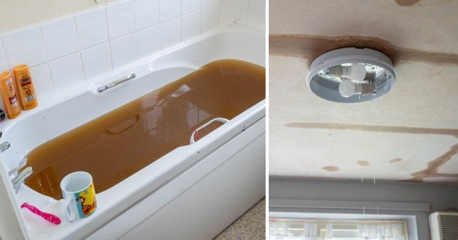 Pregnant mum horrified to find sewage fill her bathroom