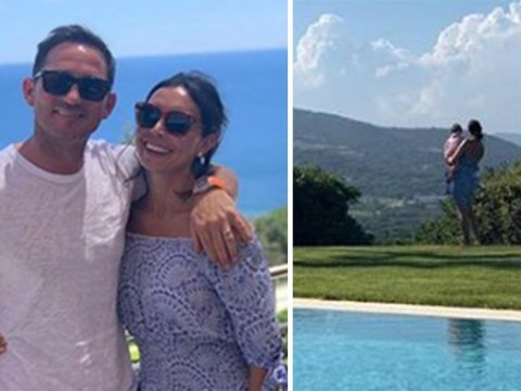Christine Lampard cradles baby Patricia in sweet holiday snap to celebrate Frank Lampard's birthday