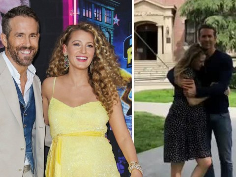 Pregnant Blake Lively visits Ryan Reynolds on Free Guy set and it's all kinds of cute