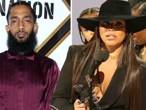 Lauren London accepts Nipsey Hussle humanitarian honour at BET Awards three months after his death