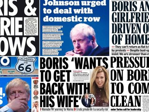 How newspapers reacted to Boris Johnson's 'screaming row'