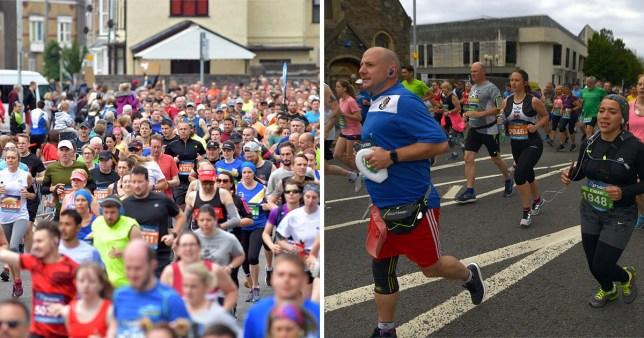 Runner dies metres from finish line of Swansea Half Marathon