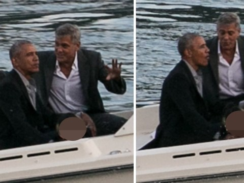 Barack and Michelle Obama join George and Amal Clooney for boat trip in Lake Como