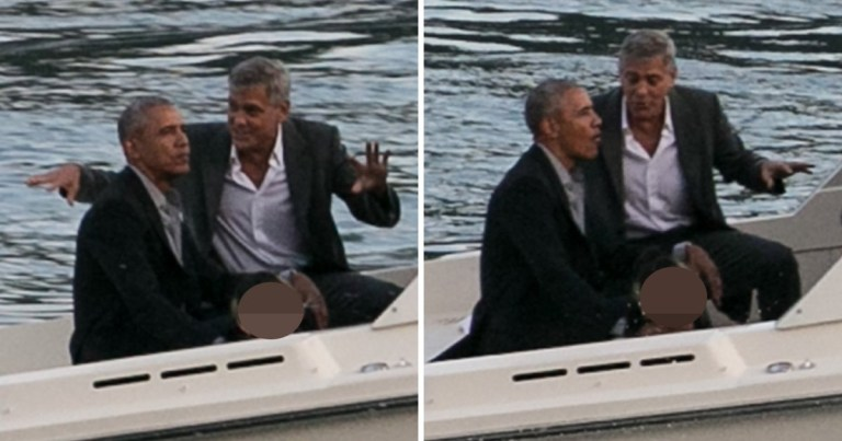 The Obamas have been holidaying with the Clooneys and could be seen attending a charity affair with each other