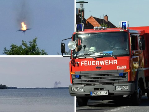 Pilot dies after Eurofighter jets crash into each other over Germany
