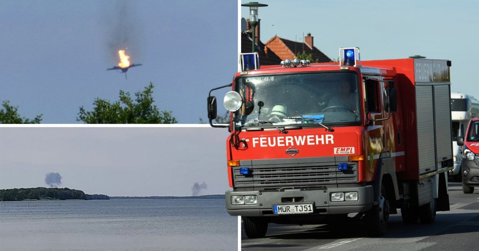 Pilot dies after Eurofighter jets crash into each other over