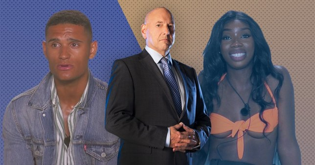 Claude Littner, Yewande and Danny from Love Island