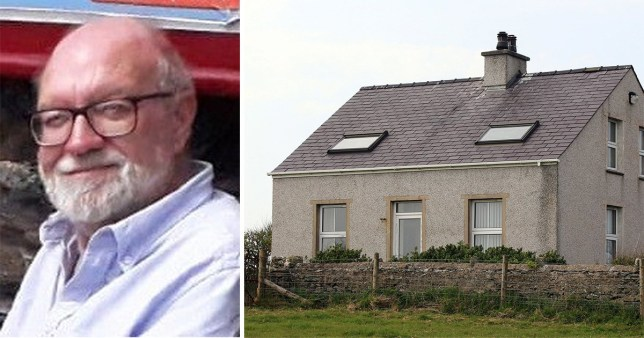 Gerald Corrigan was struck by a crossbow as he adjusted the satellite dish in the early hours of April 19 at his home in Holyhead, Anglesey, North Wales